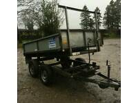 Ifor Williams tipping tipper trailer 8x5 logs
