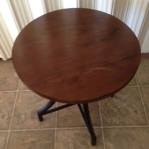 Round Wood and Metal Table Edmonton Edmonton Area image 1