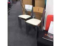 Bistro Chairs Vinyl Seat