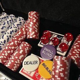 Professional 1000 piece poker set aluminium case