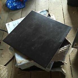 """30 Matt Black Ceramic 12"""" Floor Tiles covers 3 square metres"""