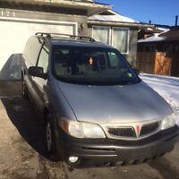2001 Pontiac Montana black Minivan, Van
