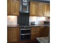 Reduced! - Used Oak kitchen inc appliances-Dishwasher, Electric double oven/grill, gas hob