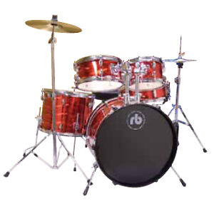 RB JUNIOR DRUM SET WITH CYMBALS (BRAND NEW)