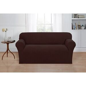 Basketweave Stretch sofa and love-seat cover