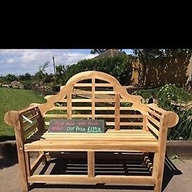Solid wood garden benches
