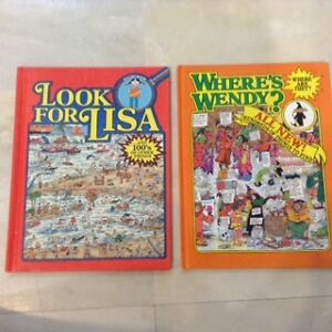 2 books for children -- 'Look for Lisa' and 'Where's Wendy?'