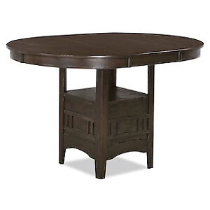 Dark Brown Wooden Dining Table with 4 Chairs For Sale