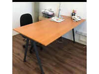 IKEA Galant desk beech effect colour fully adjustable height