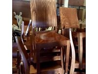 Job lot of 22 X teak dining chairs