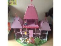Wooden princess pink castle