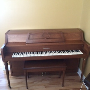 Apartment size piano and bench for sale