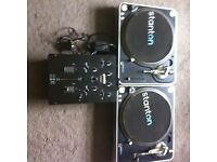 stanton t60 direct drive and gemini umx3 mixer
