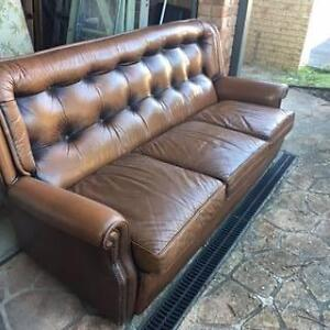 MORAN LEATHER 3 SEATER LOUNGE Coffs Harbour Coffs Harbour City Preview