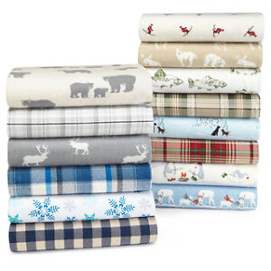 Bed Sheet Set-100% Real Flannel Cotton-Not Micro Fiber-Brand New