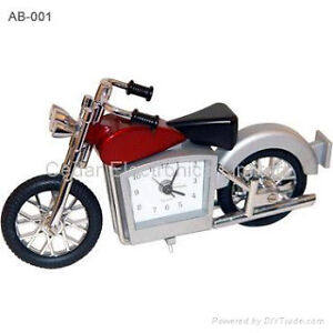 JAS Motorcycle Metal Motor Bike Miniature Novelty Clock Quartz