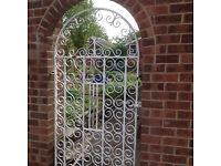 Decorative iron/steel garden Gate circa 1960