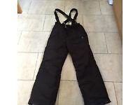 ski salopettes trousers - black dare to bare