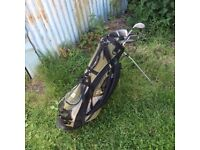 Golf Clubs with bag, balls and tees