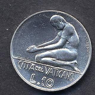 FDC VATICANO 10 Lire 1976 6.414
