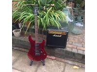 Yamaha N89 Electric Guitar and Marshall Amp