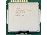 INTEL CPU i5-2500K SOCKET 1155 3.3GHZ 4 CORES 8 THREADS UNLOCKED MULTIPLIER