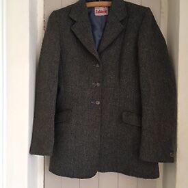 Caldene dark grey wool tweed riding jacket Size 36.