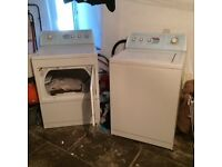 INDUSTRIAL AMERICAN LARGE CAPACITY WASHING MACHINE AND SEPERATE DRYER