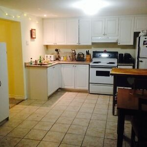 1 Room Available in Bright 2 Bedroom Basement Apartment