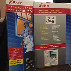 KIDDE 2 STOREY ESCAPE LADDERS ... never used