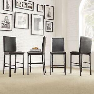 Wanted COUNTER HEIGHT chairs -minimum 4. Black!