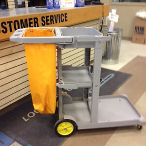 Grey J-Cart with Yellow Bag