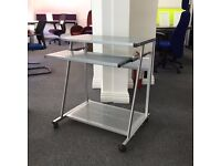 Compact Metal Computer Trolley