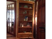 FOR SALE - LARGE BOOKCASE WITH DRAWER BY J B MCLEAN INTERIORS, EDINBURGH £85.00