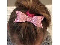 Handmade glitter hair clips