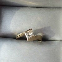 Gorgeous custom design Princess Cut wedding set