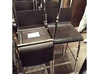 Job lot of 9 bar stools
