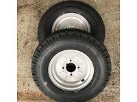5.00-10 500-10 KENDA 6 Ply Tubeless Trailer Tyres 5.00x10 500x10 500 5.00 10 79M