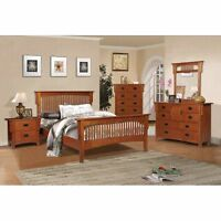 Mission 8 piece full bedroom set Queen