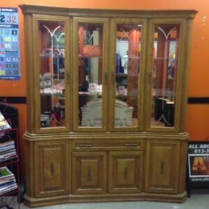 Beautiful Wooden/Glass China Cabinet