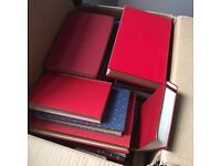 WEDDING DECORATIONS! A load of Antique Books (Navy and Red)