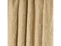 Dunelm yellow/gold lined curtains