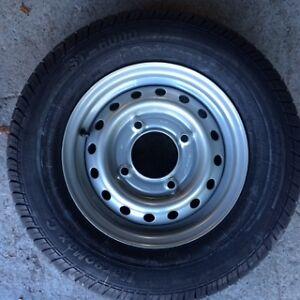 1x 165R13C new trailer tyre + Wheel 4 Stud 5.5
