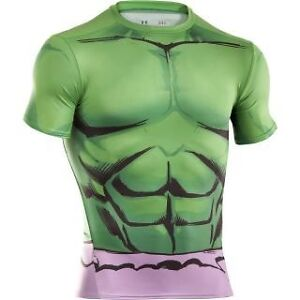 Mens under armour heat gear alter ego incredible hulk for Hulk under armour compression shirt