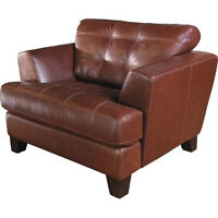 The Brick Leather Chair and Ottoman