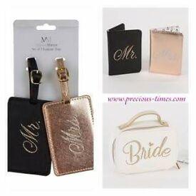 Bride luggage tags