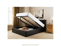 🔥🔥FAST LONDON DELIVERY🔥🔥BRAND NEW DOUBLE OTTOMAN STORAGE GAS LIFT UP BED FRAME BLACK BROWN