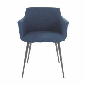 Armchair in Blue Fabric