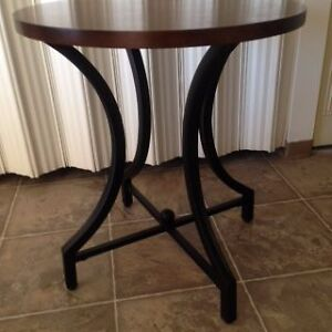 Round Wood and Metal Table Edmonton Edmonton Area image 2