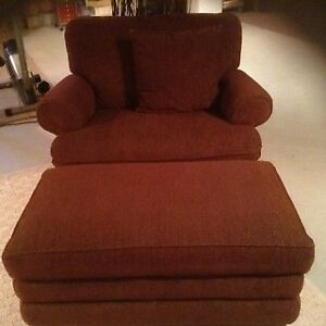 Lazy Boy Recliner and Storage Ottoman